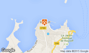 Map Roscoff One-room apartment 78518