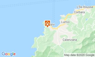 Map Calvi Apartment 32806