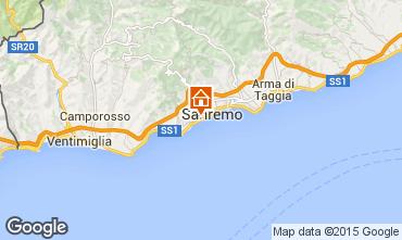 Map Sanremo Apartment 100261