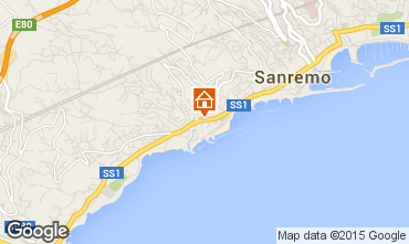 Map Sanremo Apartment 100261