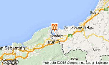 Map Hendaye Apartment 81036