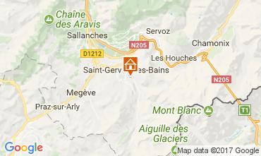 Map Saint-Gervais-les-Bains Chalet 2562