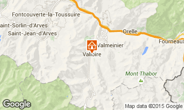 Map Valloire Apartment 3391
