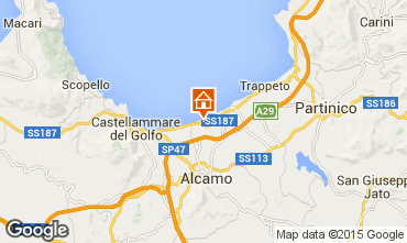 Map Alcamo Marina Apartment 86978