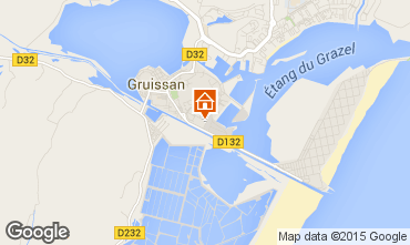 Map Gruissan One-room apartment 6279