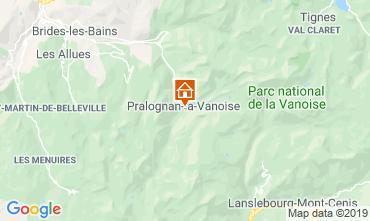 Map Pralognan la Vanoise Apartment 2280