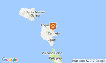 Map Lipari Villa 32486