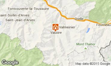 Map Valloire Apartment 16351