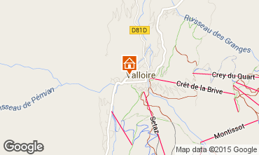 Map Valloire Apartment 16351