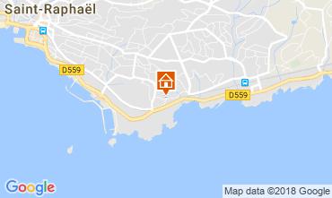 Map Saint Raphael Apartment 113677