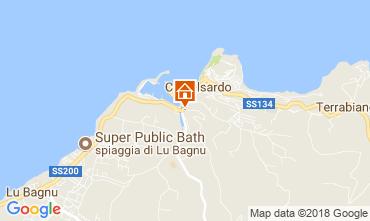 Map Castelsardo Apartment 115440