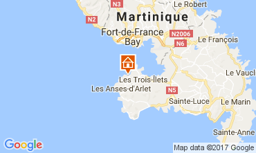 Map Trois Ilets One-room apartment 111190
