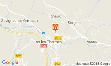 Map Ax Les Thermes Apartment 113013