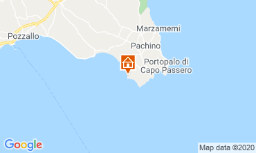 Map Portopalo di Capo Passero Villa 120155
