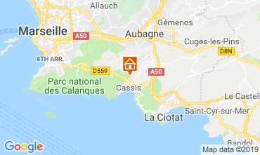 Map Cassis Villa 119721