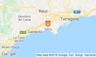 Map Salou Apartment 109511