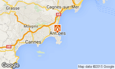 Map Antibes One-room apartment 98215
