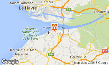 Map Honfleur Apartment 7650