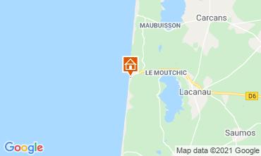Map Lacanau Apartment 35391
