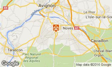 Map Avignon Vacation rental 93925