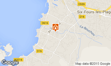 Map Six Fours Les Plages House 68526