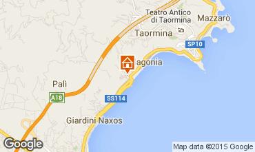 Map Giardini Naxos Apartment 32503