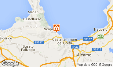 Map Scopello Apartment 76816