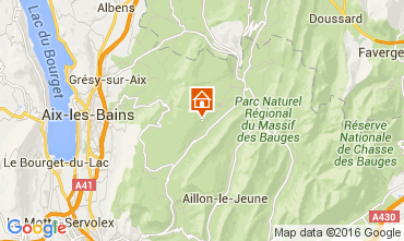 Map Les Aillons One-room apartment 91336