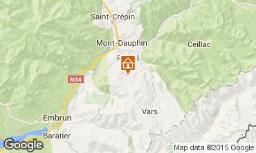 Map Risoul 1850 Chalet 83218