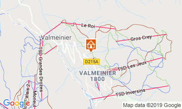 Map Valmeinier Apartment 118538