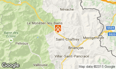 Map Serre Chevalier Chalet 2917