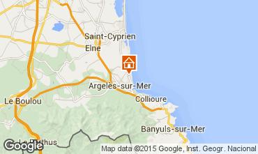 Map Argeles sur Mer Apartment 69650