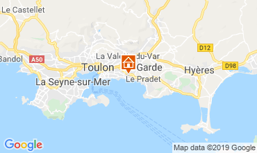 Map Toulon One-room apartment 118866