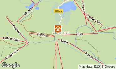 Map Tignes Apartment 3128