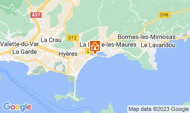 Map Hyères Apartment 102440