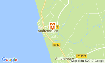 Map Audresselles Vacation rental 101559