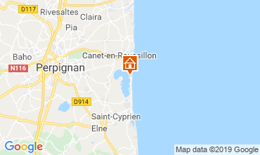 Map Canet-en-Roussillon Bungalow 118668