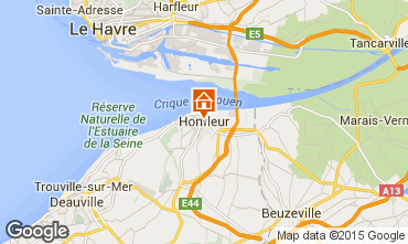 Map Honfleur Apartment 98058