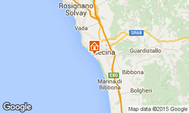 Map Cecina Apartment 90567