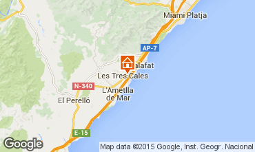 Map La Ametlla de Mar Villa 39360