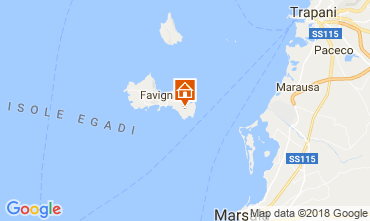 Map Favignana Villa 115333
