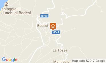 Map Badesi Apartment 112512