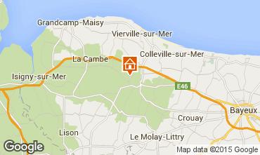 Map Bayeux Vacation rental 11456