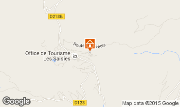 Map Les Saisies Apartment 91423