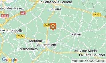 Map Marne la Vallée Vacation rental 107157