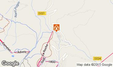 Map La Plagne Chalet 2148