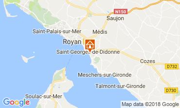 Map Saint Georges de Didonne One-room apartment 114678