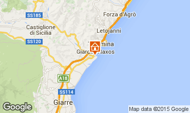 Map Giardini Naxos Apartment 54384