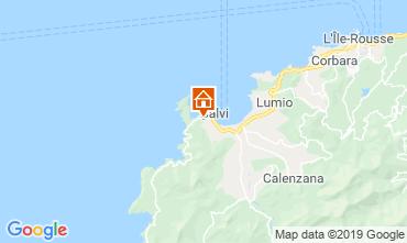 Map Calvi Apartment 119227