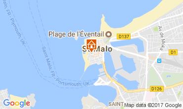 Map Saint Malo Apartment 111558